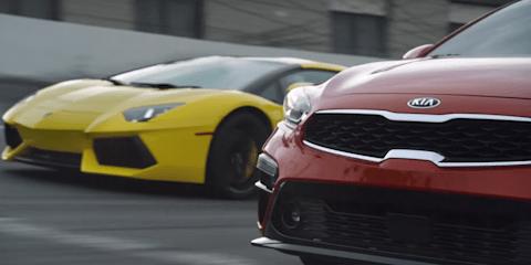 2018 Kia Cerato takes on... a Lamborghini Aventador?