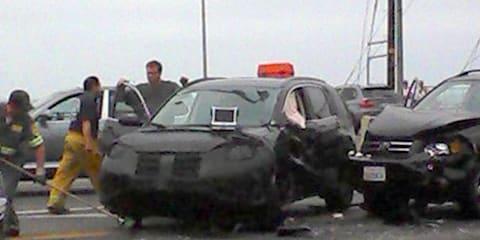 2012 Honda CR-V test car crash spy shots