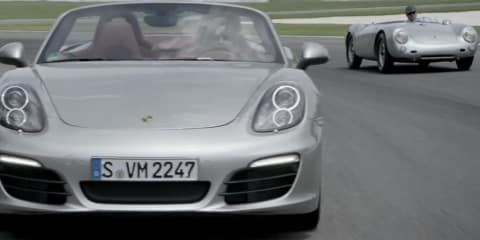 Porsche Boxster ad shows off roadsters old and new