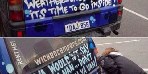 Wicked Campers to remove rude slogans from its vans following backlash