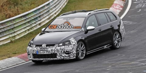 2017 Volkswagen Golf R wagon spied at the Nurburgring