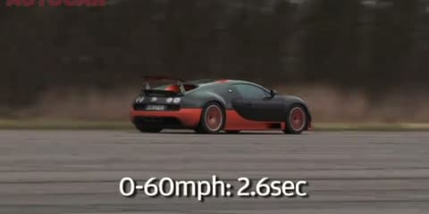 Video: Bugatti Veyron Super Sport acceleration tests by Autocar