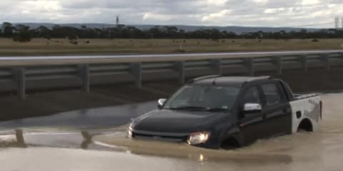 Video: 2011 Ford Ranger deep water crossing