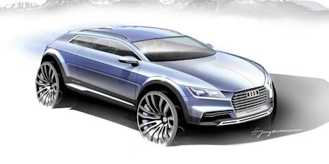 Audi Q1: coupe concept sketches preview future SUV