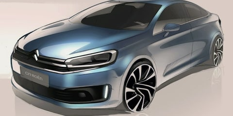 2017 Citroen C4:: teaser sketches may hint at new hatch