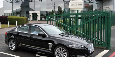 Jaguar XF 2.2D drives 1312km on a single tank