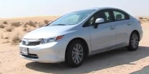 2012 Honda Civic spied without major camouflage