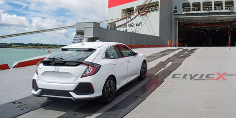 2017 Honda Civic hatch spotted undisguised at the docks