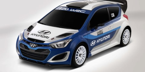 Hyundai i20 rally car on track for WRC return