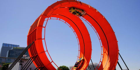 Team Hot Wheels land world record double loop X Games stunt
