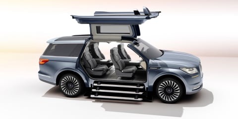 2018 Lincoln Navigator previewed with dramatic gull-winged concept