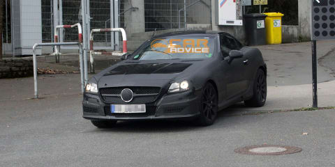 2012 Mercdes-Benz SLK63 AMG spy shots