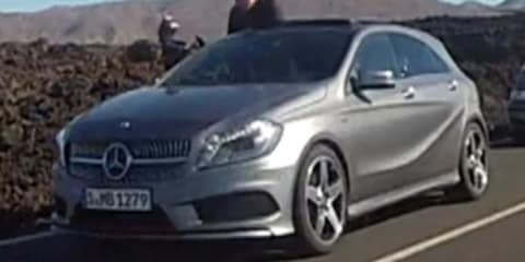 Mercedes-Benz A-Class spied in video