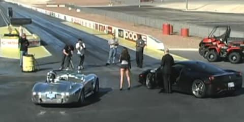 Video: 1965 Shelby Cobra vs Ferrari 458 Italia $400,000 drag race