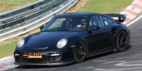 2012 Porsche 911 GT2 spy photos, testing at Nürburgring