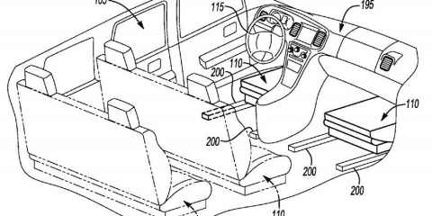 Ford patents autonomous vehicle interior with reconfigurable seats