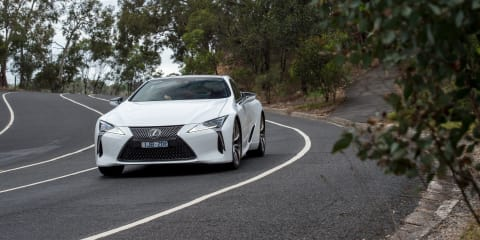 Lexus LC500 on the Great Ocean Road