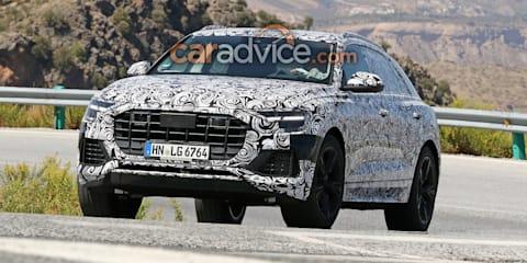 2018 Audi Q8 interior spied undisguised