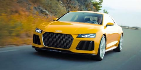 Audi Sport quattro concept hits the road to thank Facebook fans