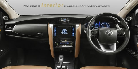 2016 Toyota Fortuner interior revealed for Thai market