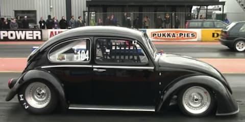 Electric Volkswagen Beetle 'Black Current' sets quarter mile record
