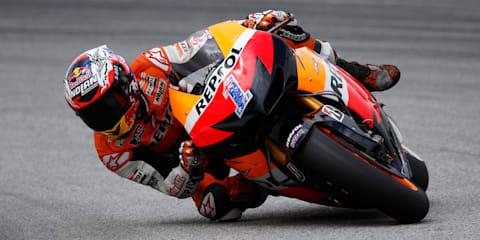 Casey Stoner back riding for Honda