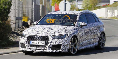 2015 Audi RS3 spied with suspected 2.0-litre four-cylinder engine