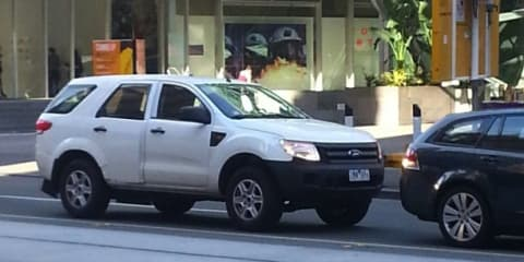 Ford Ranger SUV mule spied in Melbourne