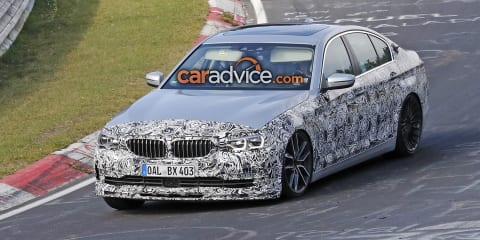 2017 Alpina B5 sedan spied at the Nurburgring