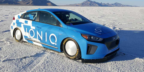 Hyundai Ioniq sets land speed record at Bonneville Salt Flats