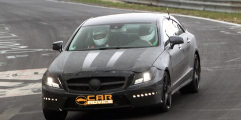 Mercedes-Benz CLS AMG spy photos from Nürburgring