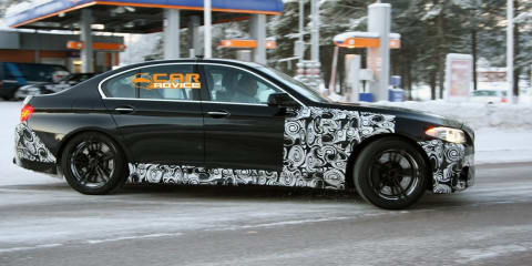 2012 BMW M5 winter test spy shots