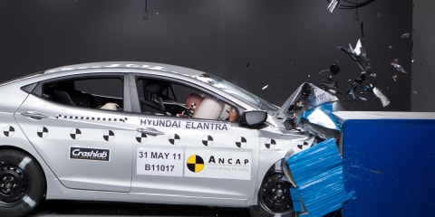 2012 Hyundai Elantra ANCAP crash test video