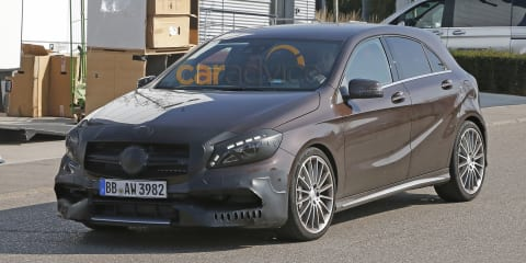 Mercedes-Benz A45 AMG facelift spy photos