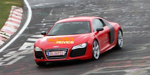 Audi R8 e-tron spy shots