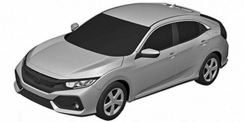 2017 Honda Civic hatch revealed in patent images