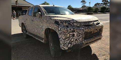 Mitsubishi Triton facelift spied again