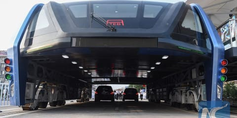 "China's giant ""transit elevated bus"" just went real"