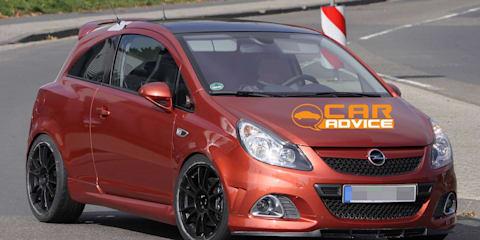 Opel Corsa OPC Nürburgring edition spy photos