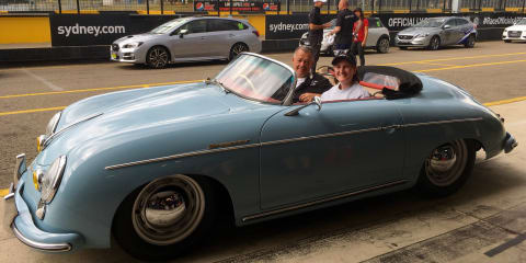 Riding shotgun with Porsche 356 racer, Ron Goodman