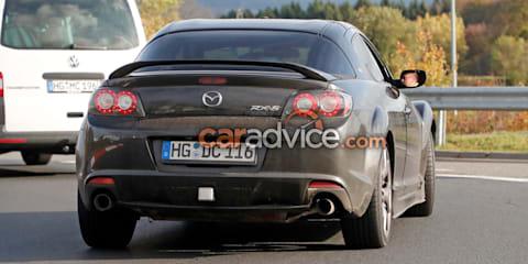 Mazda 'RX-9' mule spied