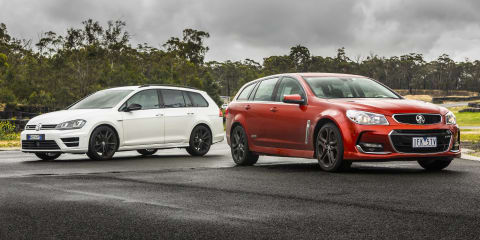 Holden Commodore SS V Redline Sportwagon v Volkswagen Golf R Wagon Comparison