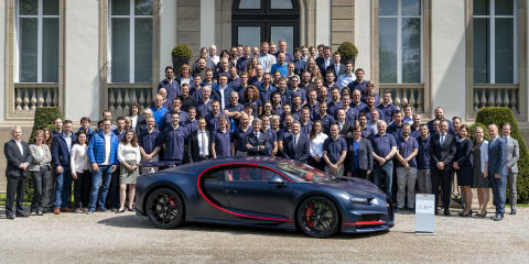 Bugatti Chiron: 100th hypercar produced