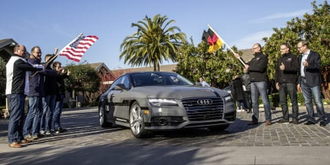 Autonomous Audi A7 begins 885km journey from California to Las Vegas for CES