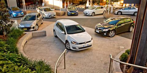 Small car comparison: Volkswagen Golf v Mazda 3 v Toyota Corolla v Holden Cruze v Ford Focus v Hyundai i30 v Opel Astra v Honda Civic