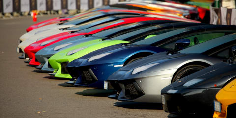 Lamborghini 50th anniversary grand tour ready to make tracks