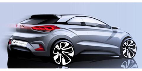 Hyundai i20 Coupe sketch previews next-gen three-door variant