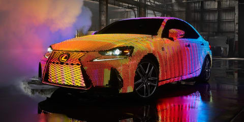 Lexus IS covered in 41,999 responsive LEDs for music video