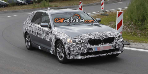 2017 BMW 5 Series Touring sheds layers in new spy photos