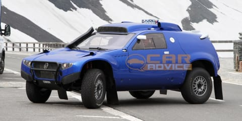 Volkswagen Touareg Dakar-spec spied in the Alps